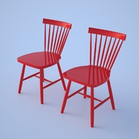 lilla Åland carl chair 3d model