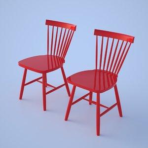 lilla Åland carl chair 3d model