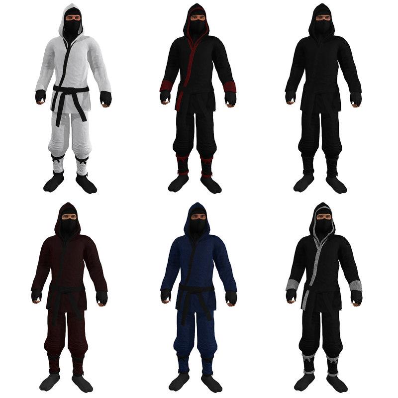 3d pack rigged ninjas