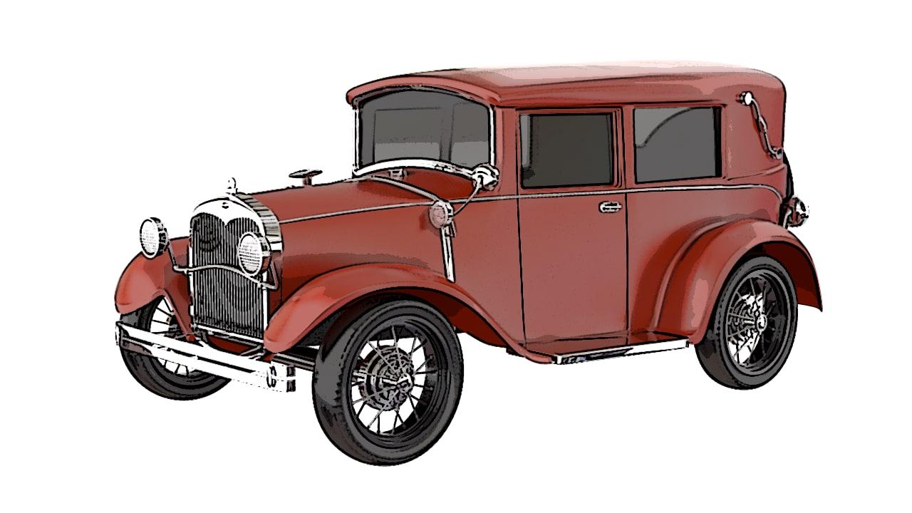 old car 3d model