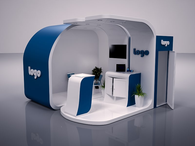 Exhibition Booth Obj : Exhibition booth design max