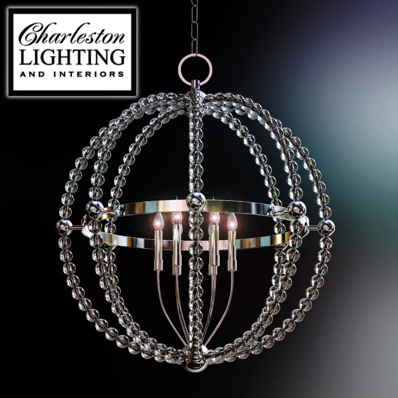 charleston lighting interiors chandelier 3d model
