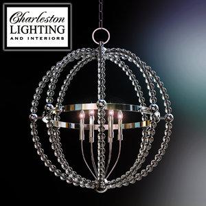 charleston lighting interiors chandelier 3d model