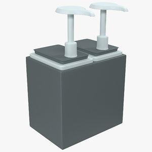 3d condiment dispenser 4 pumps