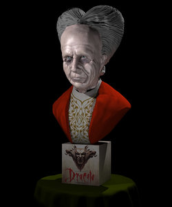 3d model bust dracula