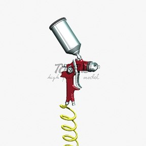 paint spray gun 3d model