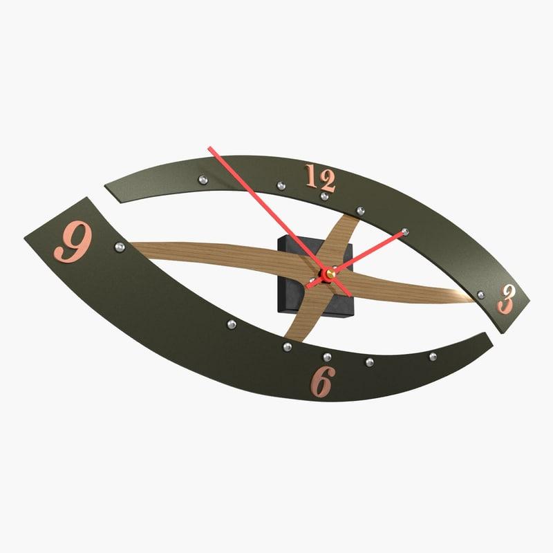 3d max wall clock eye