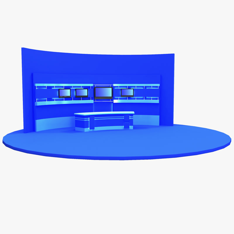 3d model tv studio 9