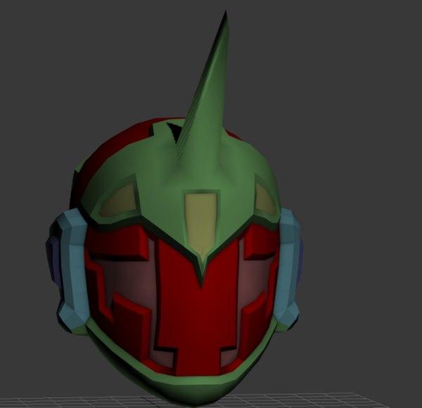 sci fi space helmet 3d max