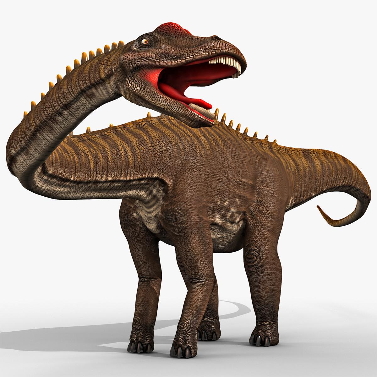 3d model diplodocus rigged