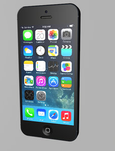 apple iphone 5 c4d