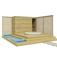 3d dxf outdoor jacuzzi