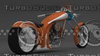 3d moto motorcycle chopper model
