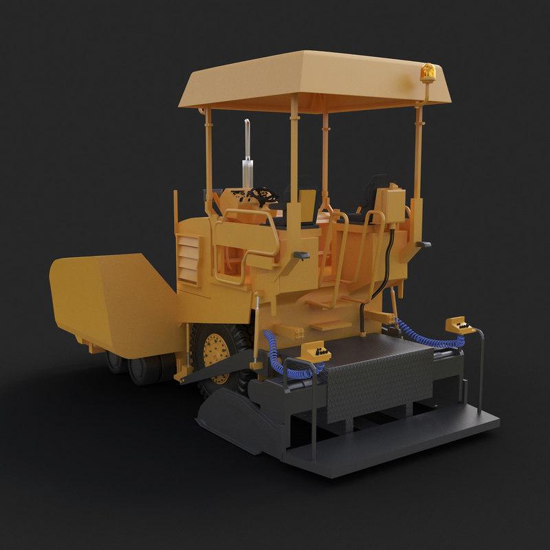 asphalt paver 3d model