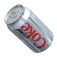 diet coke 3d fbx