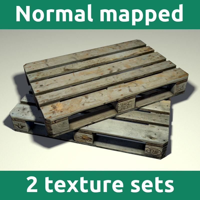 wooden pallet 3d 3ds