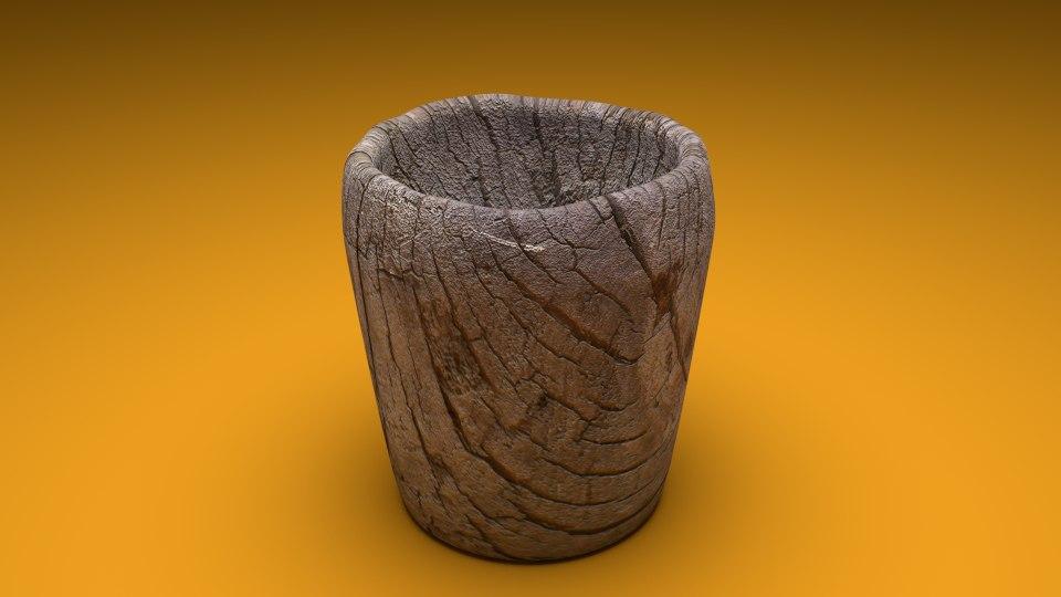 obj cup wood
