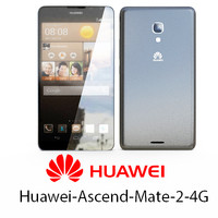 huawei-ascend-mate-2-4g black 3d model