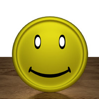 3d model clothing button smiley faces