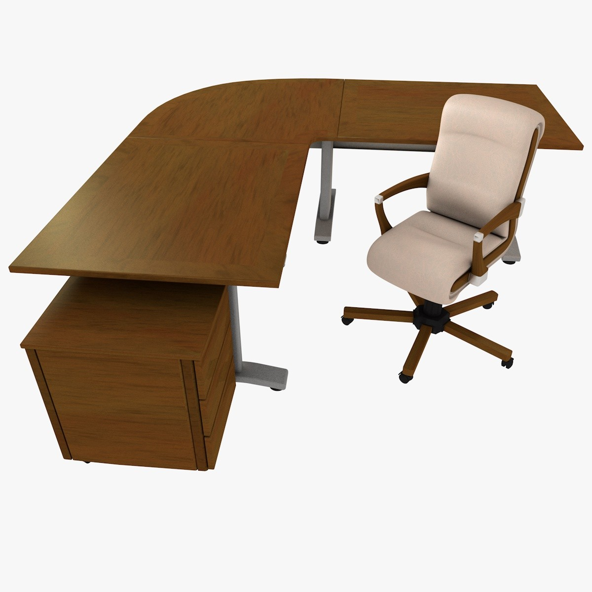 3d c4d office desk chair