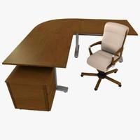 3d c4d office desk chair