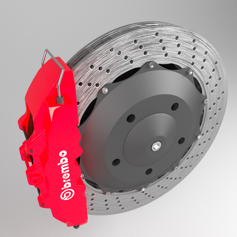 3d model disc brake caliper