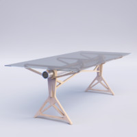 modern meeting table 3d max