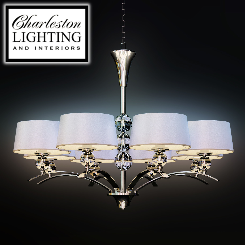 Charleston Lighting And Interiors Eight Light Transitional Chandelier 489066