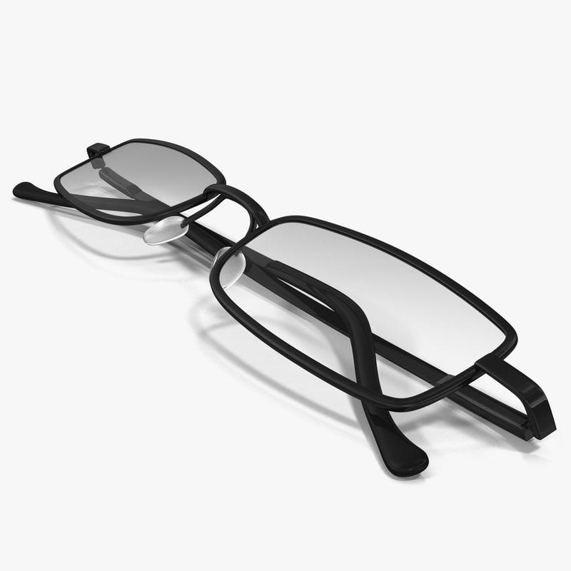 reading glasses 2 3d max