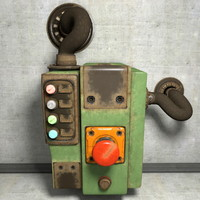 Old Worn Industrial Safety Switch Security Button
