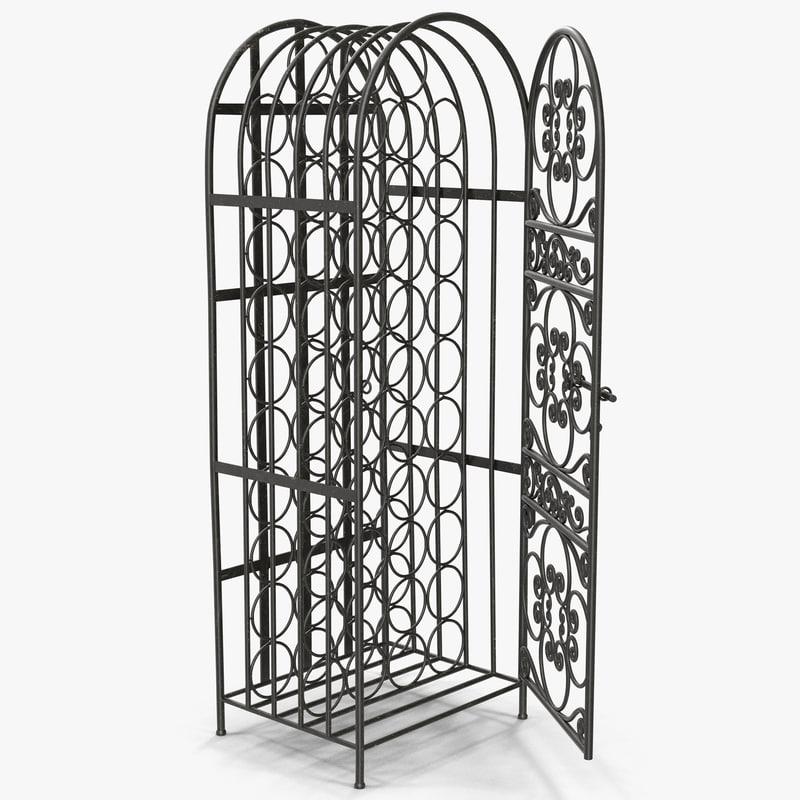 3d wine cage 2 model