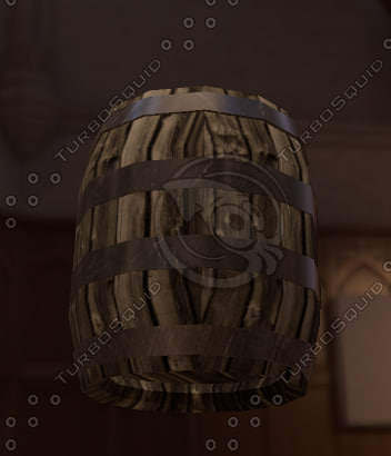 3ds max old wooden barrel