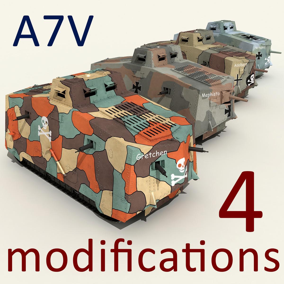 a7v tanks 3d max