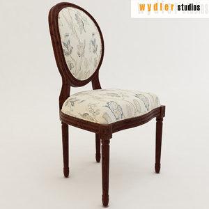 3d model louis xv chair