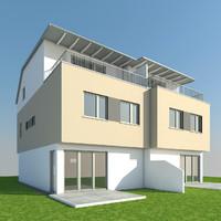 3d model double house