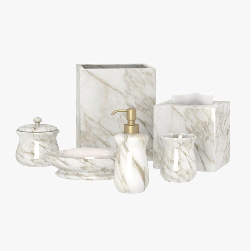 3dsmax bathroom decorative set