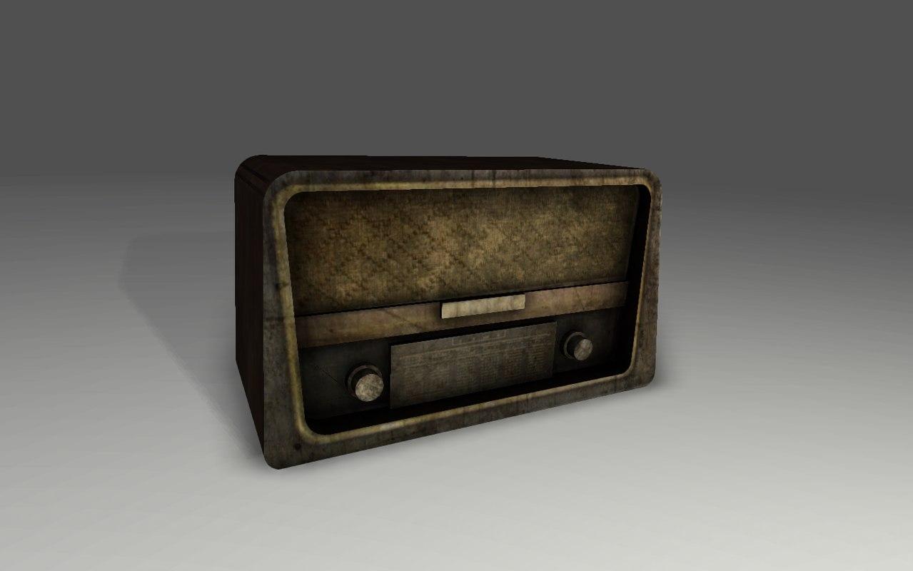 old radio fbx