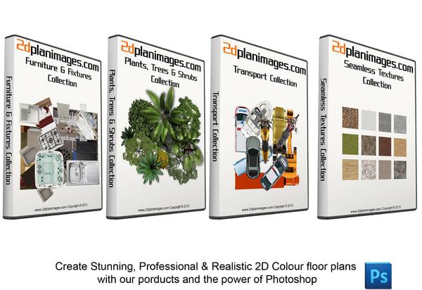 2D Floorplan Ultimate Bundle Overhead & Topdown views