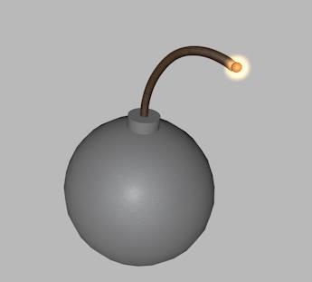 3ds max gunpowder cartoon bomb