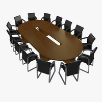 meeting desk chairs c4d