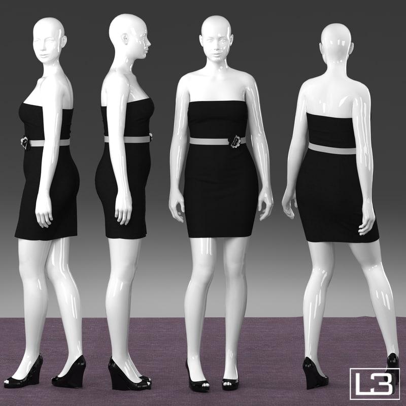 Size Woman Mannequin 3d Model