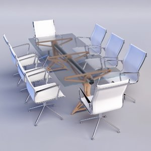 3d meeting room table model