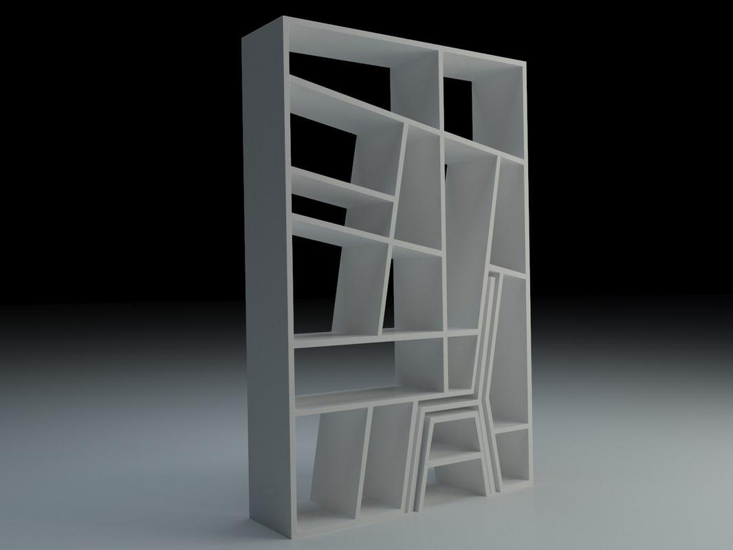 3d model creative shelves small