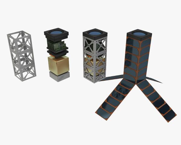 3d satellite sat cube