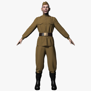 soldiers wwii character 3d model