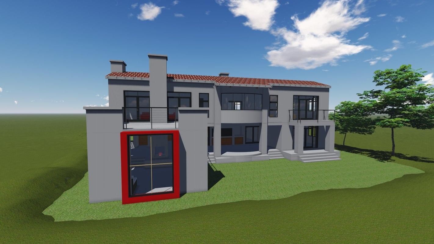 3d architecture house