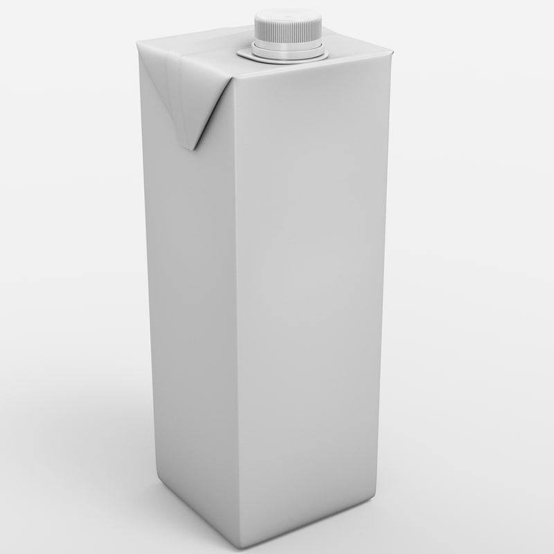 3d beverage package model