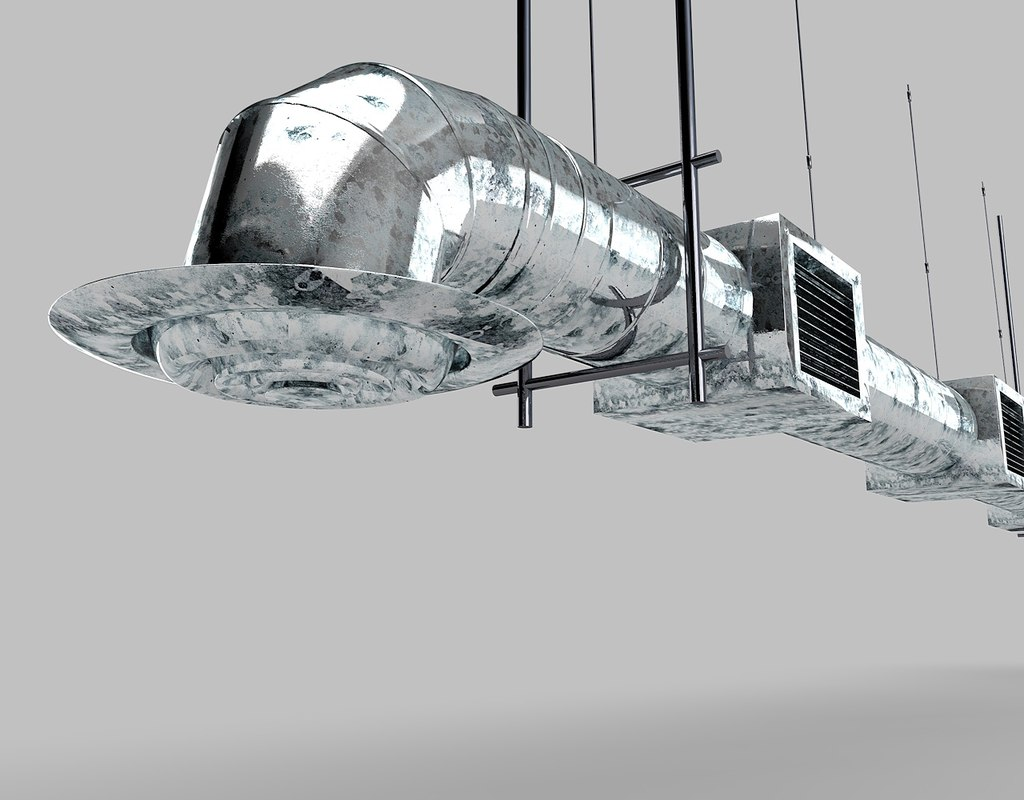 Industrial Air Duct Ventilation 3d Model