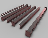 3d pack industrial beams model