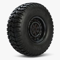 humvee wheel 3d max